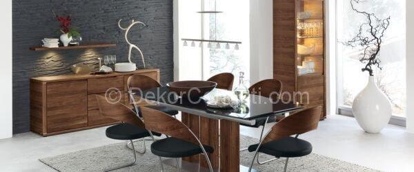siyah kave yemek odası dekorasyonu