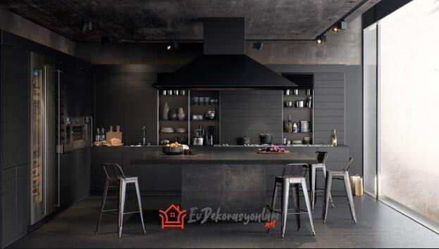 2020 Modern Ve Asil Siyah Mutfak Dekorasyonları