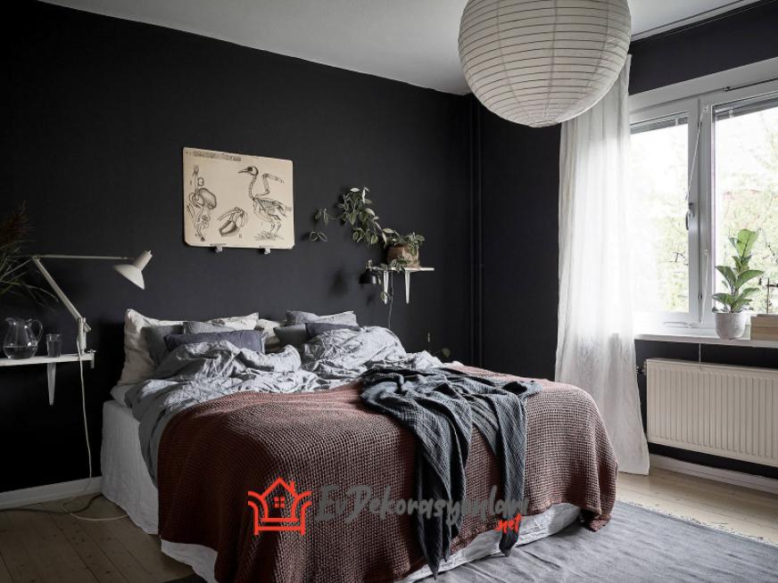 Siyah Yatak Odası Dekorasyonu