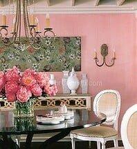 somon rengi yemek odası dekorasyonu