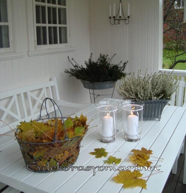 sonbahar balkon dekorasyon fikirleri