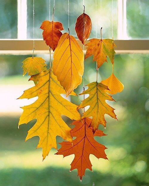 sonbahar yapraklari ev aksesuari