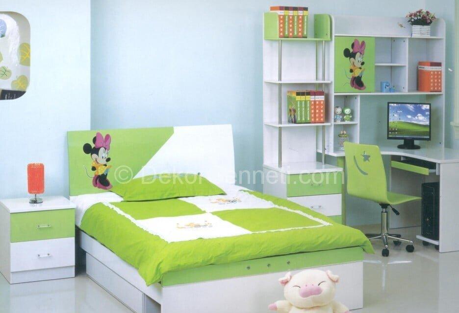 Stil Sahibi Çocuklar içn Yeşil Oda Dekorasyonları