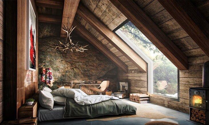 Tavan Araları Nasıl Değerlendirilir : Yatak Odası Olarak Kullanın