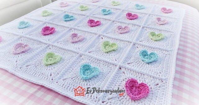 tig isi motifli bebek battaniyesi modeli