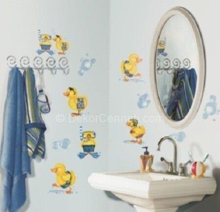 Trend banyo fayanslarına sticker Fotoğrafları