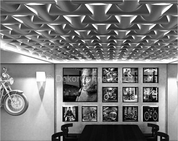 Trend kendinden yapışkanlı dekoratif duvar panelleri Resimleri