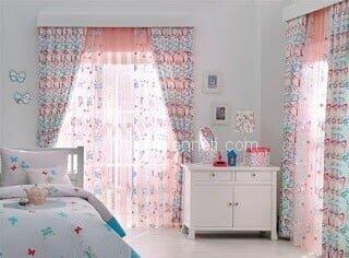 Trend kız çocuk odası perdesi Fotoğrafları