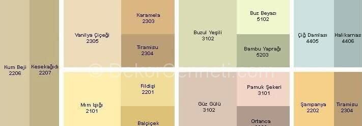 Trend marshall 1001 renk Galeri