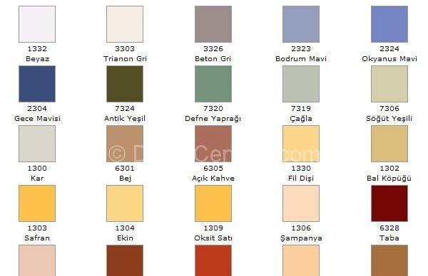 Trend marshall 1001 renk kartelası 1000 serisinden 0616-b04g kodlu rengi Fotoları