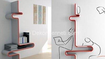 Trend modern duvar rafı Modelleri