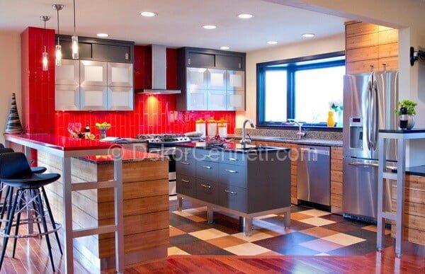 u mutfak dekorasyonu