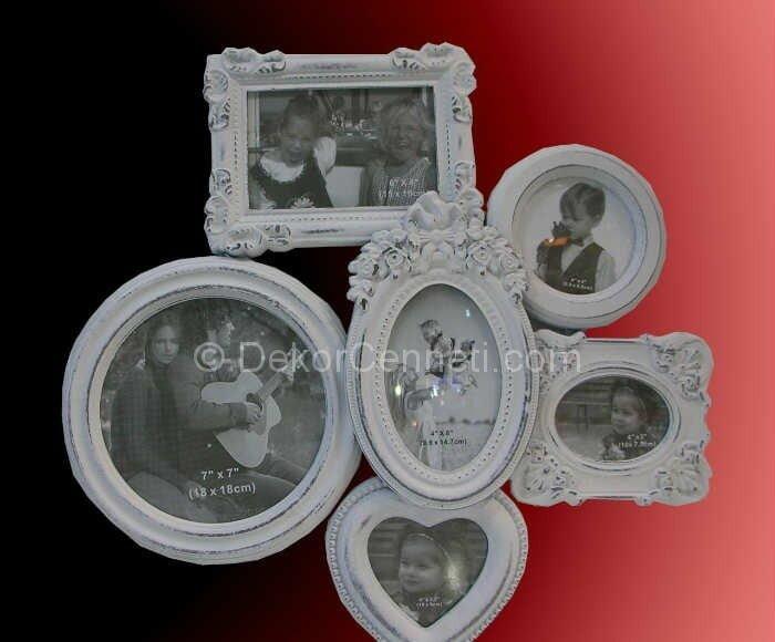 vintage çoklu fotograf çerçevesi