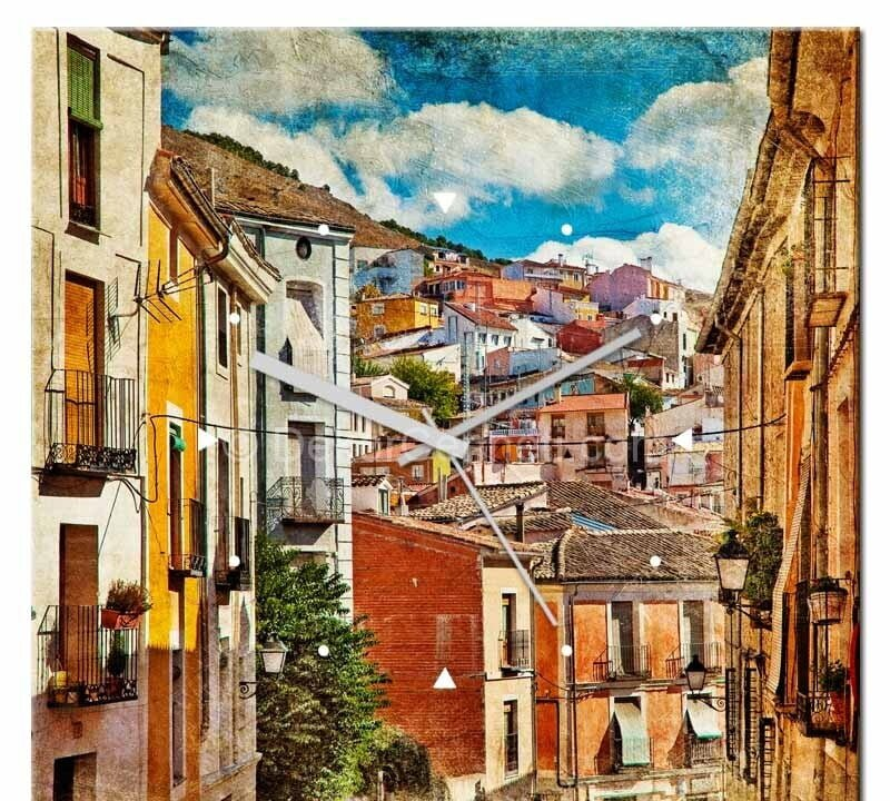 vintage-city-canvas-tablo-saat