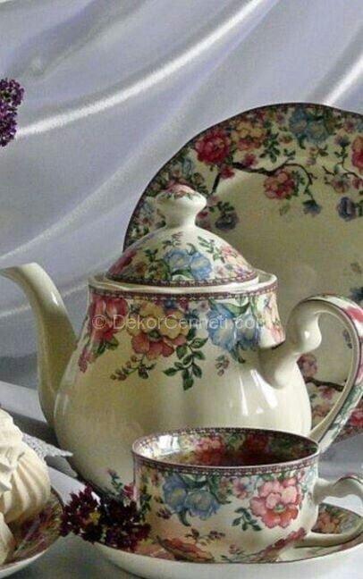 vintage porselen demlik modeli