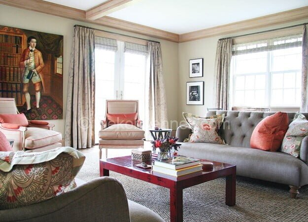 vintage salon dekorasyon örneği