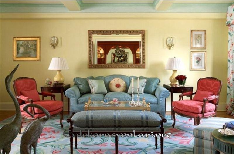 vintage salon dekorasyon modeli 2019