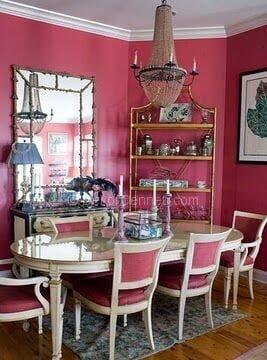 vintage yemek odası dekorasyonu