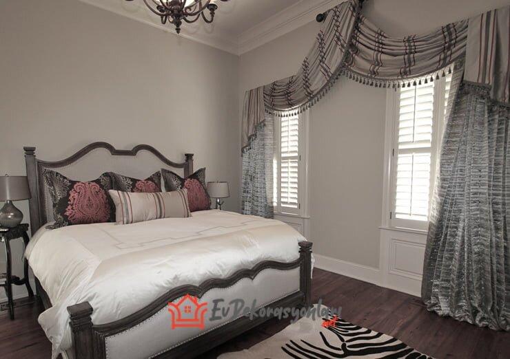 yatak odasi dekoratif perde modelleri 2019
