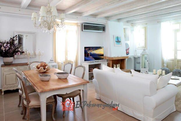 yazlik ev salon dekorasyon modeli 2019