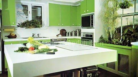 yeşil ada mutfak modelleri