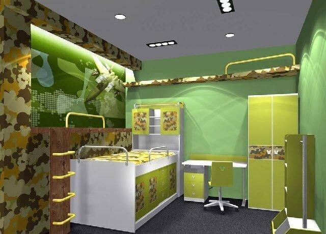 yeşil çocuk odaları