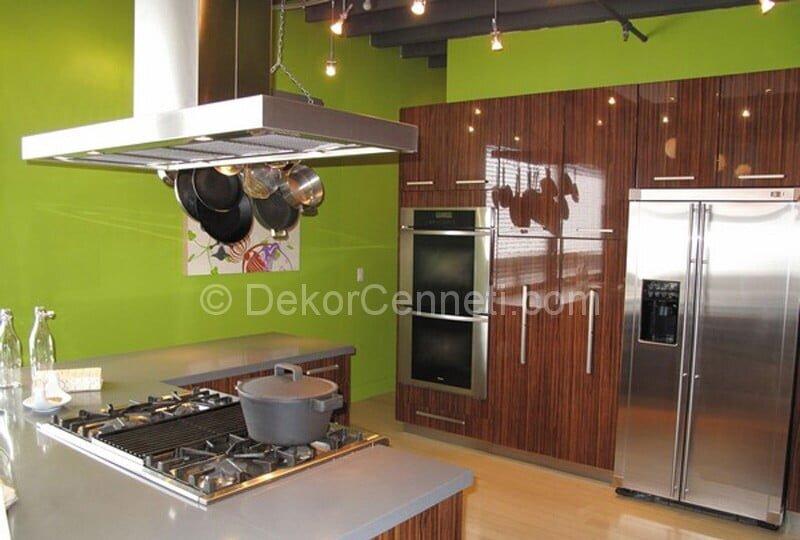 yeşil mutfak duvarları