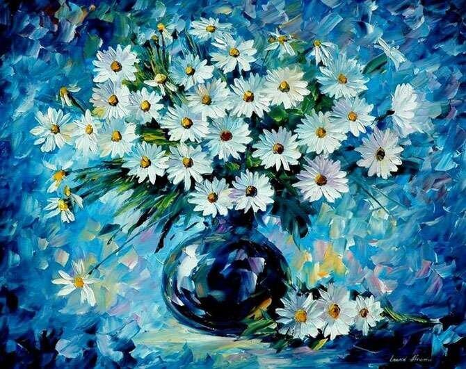 yeni dekoratif yagli boya tablo modelleri