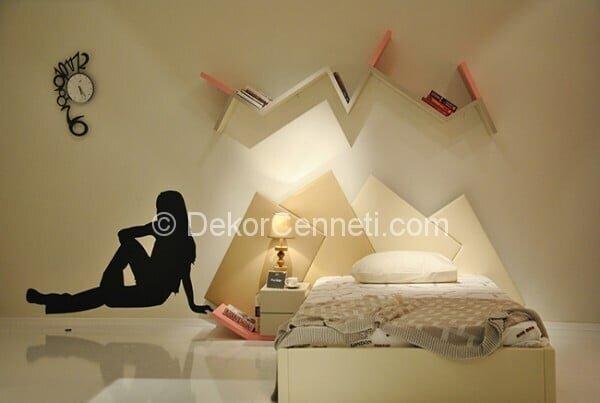 Yeni genç odası yatak başlığı Resimleri