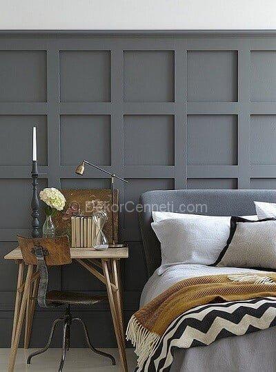 Yeni gri genç odası Fotoğrafları