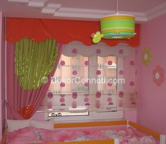 Yeni kız çocuk odası perdesi Fotoları