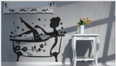 Yeni Moda banyo kapısı sticker Galerisi