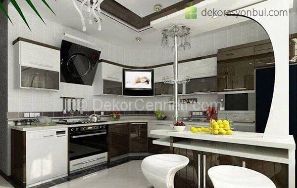 Yeni Moda bar masalı mutfak Modelleri