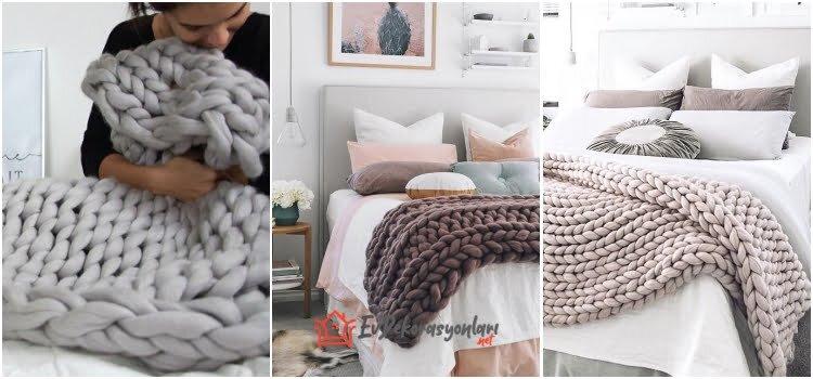 yeni moda dev orgu battaniye modelleri