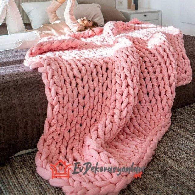 yeni moda dev orgu battaniyeler