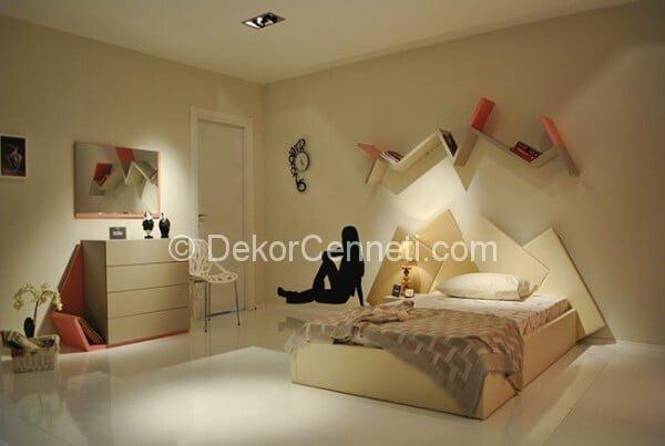 Yeni Moda genç odası yatak başlığı modelleri Fotoları