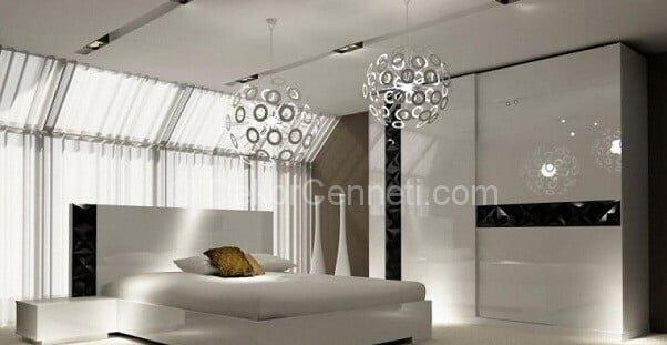 Yeni Moda istikbal yatak odası pudra rengi Galeri
