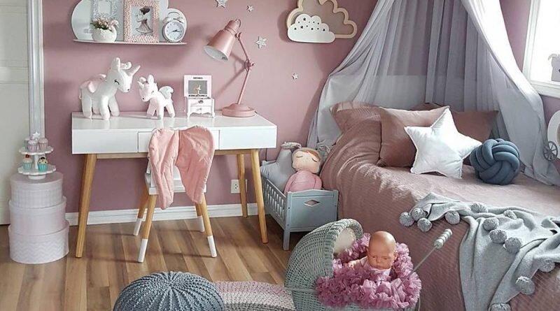 yeni moda kiz cocuk odasi dekorasyon modelleri 2019