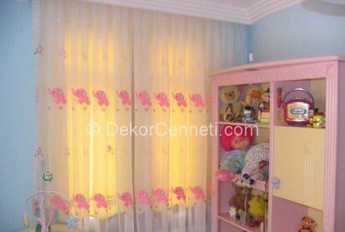 Yeni Moda kız çocuk odası perdesi Galerisi