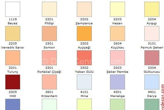 Yeni Moda marshall 1001 renk kataloğu Görselleri