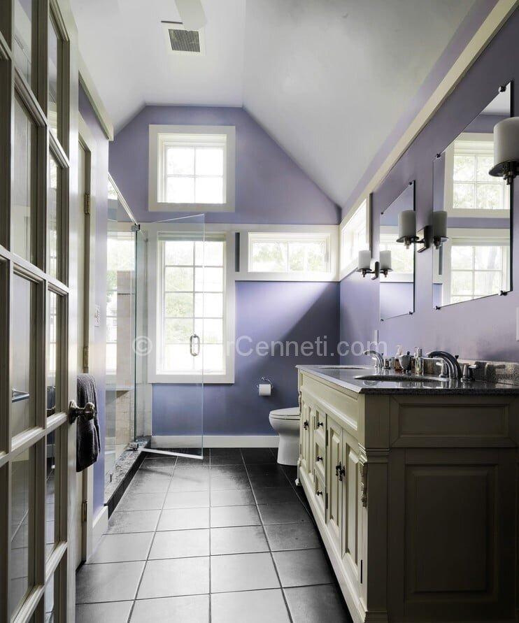 Yeni Moda mor banyo dekorasyonu Resimleri