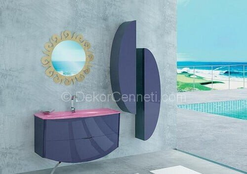 Yeni Moda mor banyo dolabı Fotoları