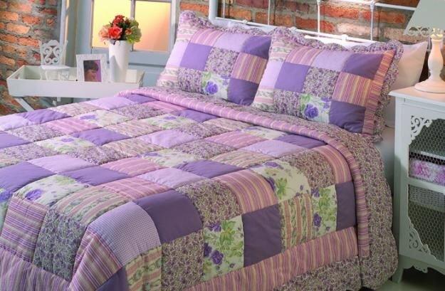 yeni moda patchwork yatak ortuleri