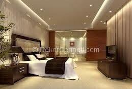 Yeni Moda yatak odası asma tavan Fotoğrafları