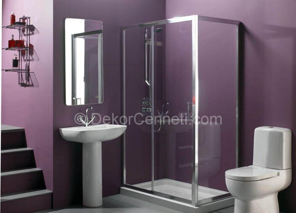Yeni mor banyo dolabı Fotoları