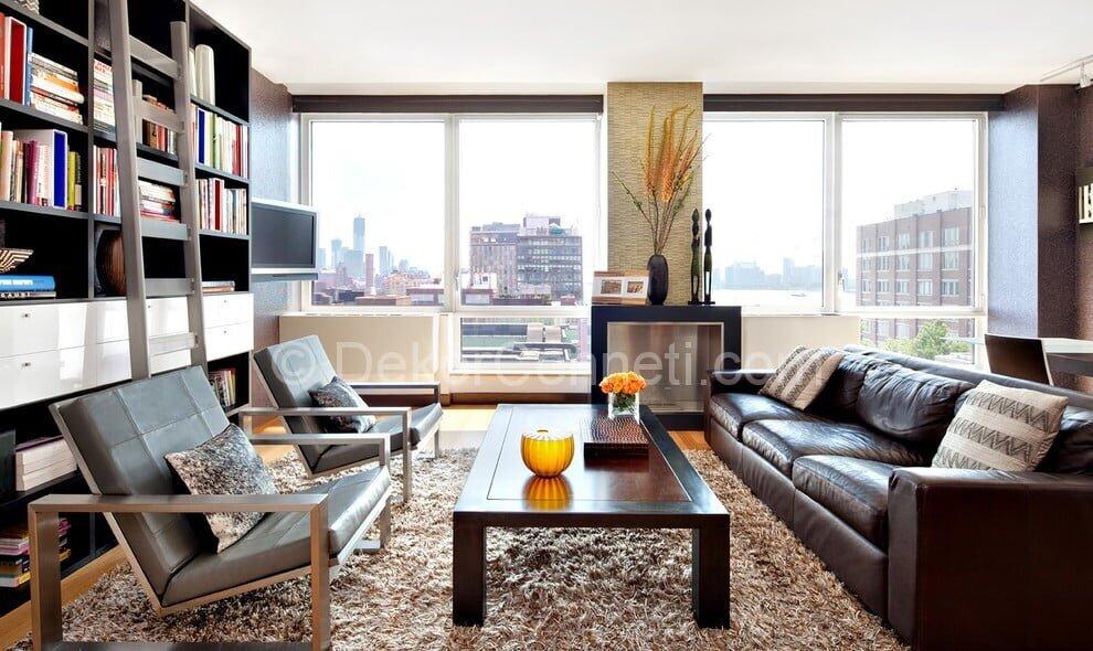 Yeni oturma odası dekorasyonu Fotoğrafları