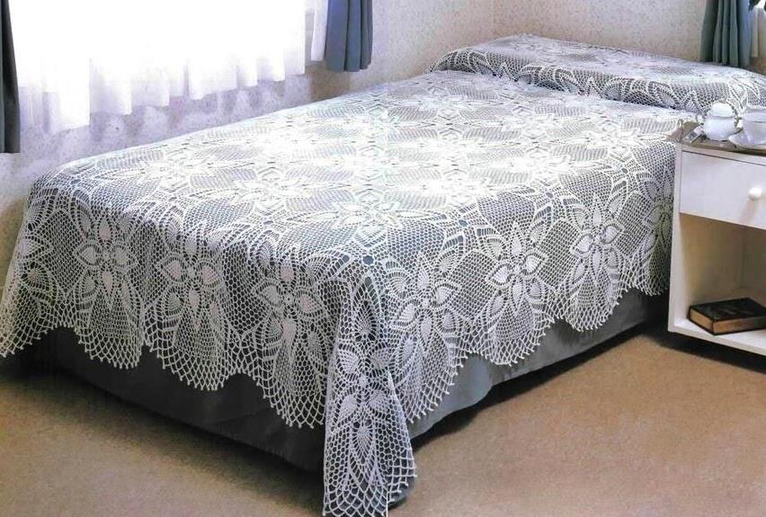 yeni sezon el isi dantel yatak ortusu modelleri