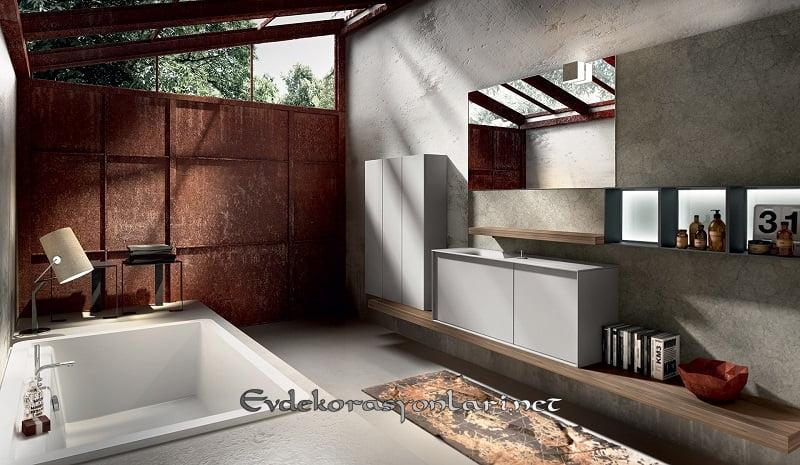 yeni sezon modern banyo dolap modelleri