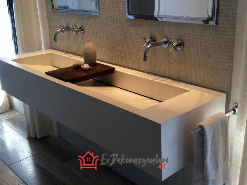 2020 Banyoların Yeni Trendi Beton Lavabo Modelleri