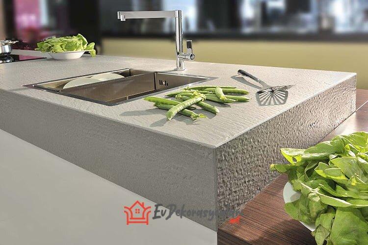 yeni trend beton mutfak tezgah modeli 2019